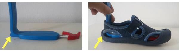 meranie vnútornej dĺžky obuvi