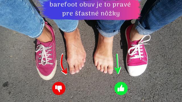 barefoot vs klasicka obuv